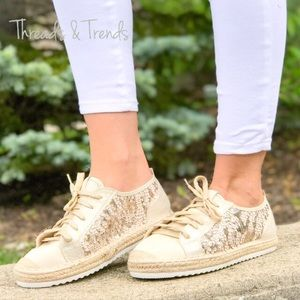 Shoes - CLEARANCE! 🌸Sequin Espadrille Sneakers