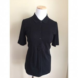 Lacoste Tops - NWT Lacoste black polo shirt sz 38 (US 6)