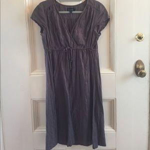 Boden Grey Linen Dress