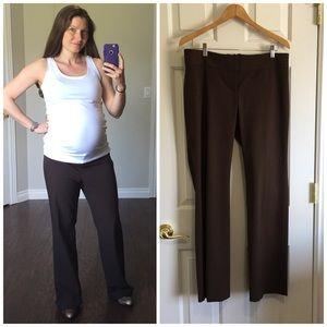 LOFT Pants - LOFT maternity brown pants