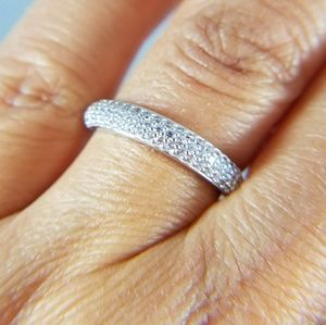 14k Solid White Gold Wedding Band Ring
