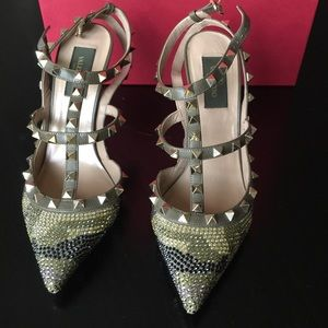 Valentino Shoes - Valentino Rockstud Camouflage Swarovski Crystal 38