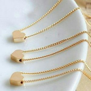Jewelry - Brand New Gold Heart Tiny Dainty Choker Necklace