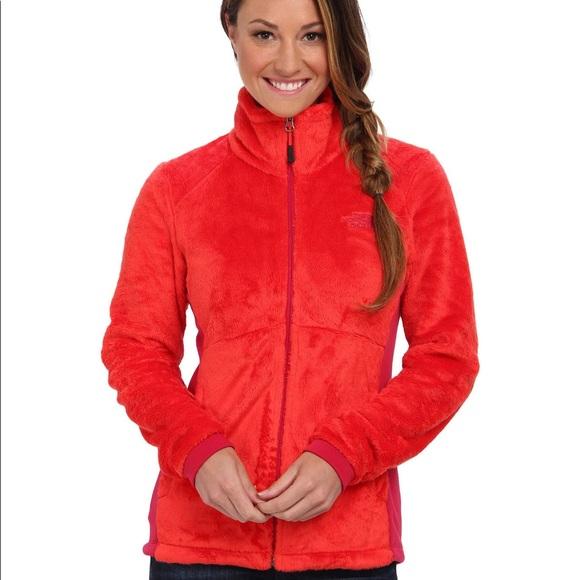 Womens The North Face Jacket Tech Osito Soft Fleece Coat Rambutan Pink XS L