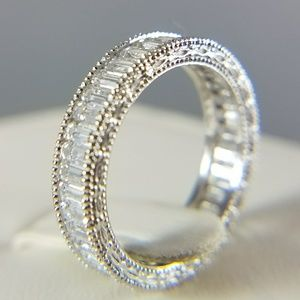 Jewelry - 14k Solid White Gold Eternity Band