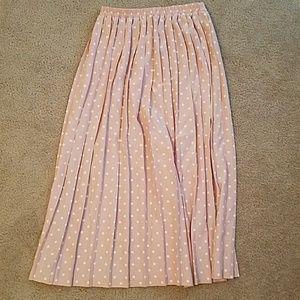 Leslie Fay Dresses & Skirts - Vintage pink and white polka dot skirt size 10