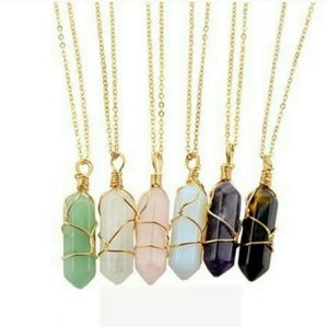 Jewelry - Brand New Gem Pendant Gold Necklace