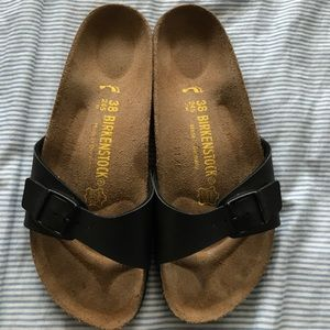 Birkenstock Shoes - Birkenstock slide on flip flops sandals size 7.5