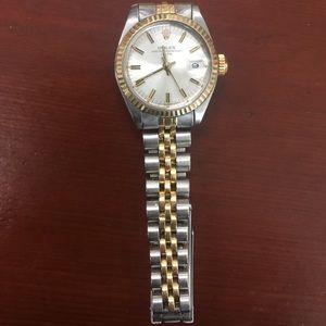 Rolex Accessories - Rolex Ladies 18K/SS Date - Jubilee Band Ref#6917