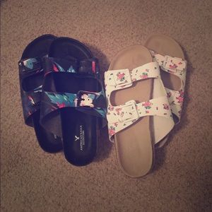 American Eagle Outfitters Shoes - Birkenstock-style shoes, patterned, barely worn!