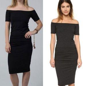 Monrow Dresses & Skirts - Monrow off shoulder dress m nwt