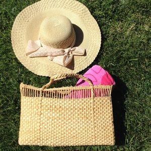 Handbags - VINTAGE BASKET BEACH BAG