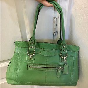 Coach Handbags - Green Coach purse
