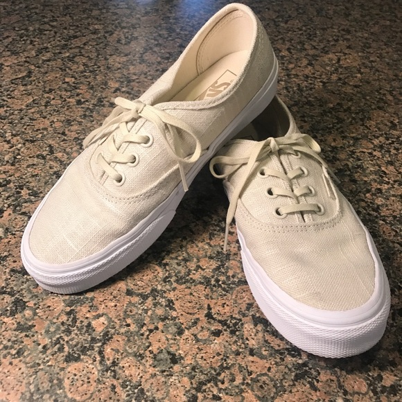 2c06cd1235 Vans Hemp Linen Authentic Shoes. M 59231e0af092829345009fa8