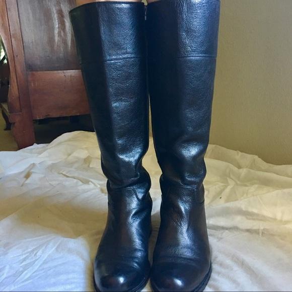 69fa42c542b9 Fendi Shoes | Black Leather Riding Boots | Poshmark