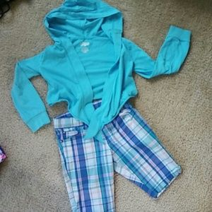 Other - Hooded Tie Tee & Shorts Size 5/6