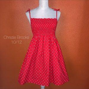 Christie Brooks Red Polka Dot Dress 10/12