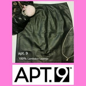 Apt. 9 Dresses & Skirts - apt. 9 100% Lambskin Leather Pencil Skirt