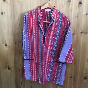 Emerson Fry Tops - Emerson Fry hand-dyed ikat tunic
