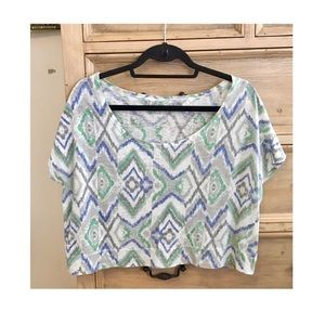 Threads 4 Thought Tops - Threads 4 Thought ikat pattern crop top