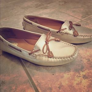 Clarks Shoes - Clarks Gold Leather Loafers