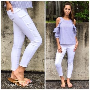 Denim - Cropped Ankle Skinny Jeans