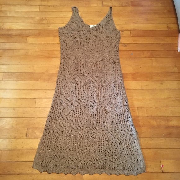 8915b520c6f6 Hayden Los Angeles Dresses | Nwt Brown Crochet Midi Dress | Poshmark