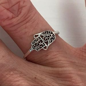 Jewelry - Sterling Silver Small Hamsa Ring