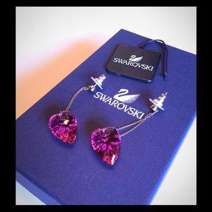 Swarovski Jewelry - 🏆HP🏆SWAROVSKI PINK HANGING EARRINGS