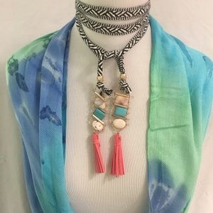 Evolving Always Jewelry - 🆕Semi Precious Stone Braided Cord Lariat