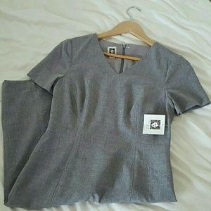 Anne Klein Dresses & Skirts - Gray Anne Klein Work Dress