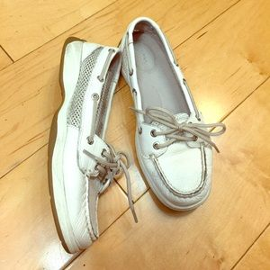 Sperry Top-Sider Shoes - Sperry Top-Sider white leather shoes 6.5
