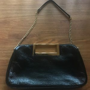 Michael Kors patent leather black clutch