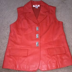 lisa international Jackets & Blazers - Lamb skin leather vest sz M