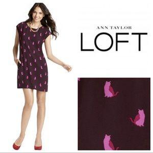 LOFT Dresses & Skirts - Ann Taylor Loft Smitten Kitten cats shift dress
