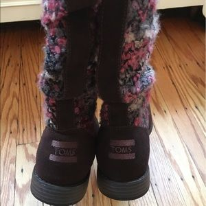 TOMS Shoes - TOMS brown and pink boots-BRAND NEW!