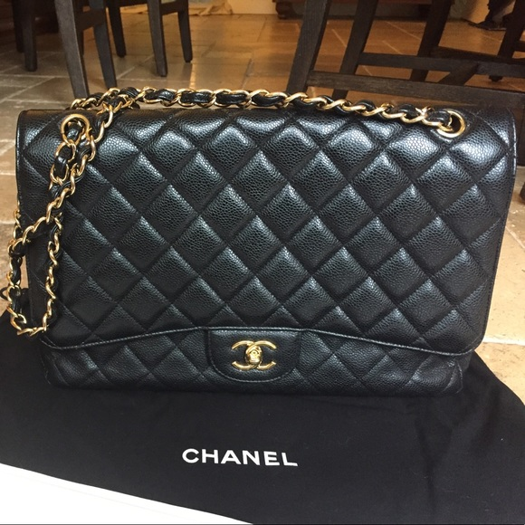 46ef8a0cbe49 CHANEL Bags | Black Caviar Maxi Bag | Poshmark