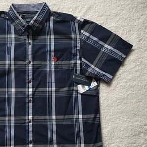 U.S. Polo Assn. Other - NWT U.S. Polo Assn Button Down Navy Plaid Shirt XL