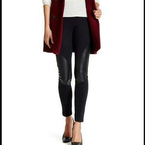 14th & Union Pants - 14th & Union | black legging with faux leather| M
