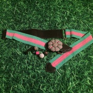 Juicy Genuine leather/fabric belt