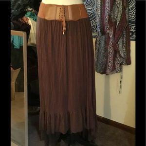 Boho Gypsy Sisters Dresses & Skirts - SUPERSOFT BOHO MAXI SKIRT❤️BUILT IN BELT & LONGGG