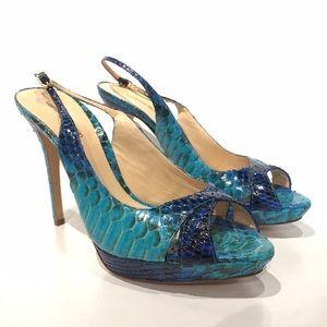 Alexandre Birman Shoes - NWT Alexandre Birman blue python heels size 10