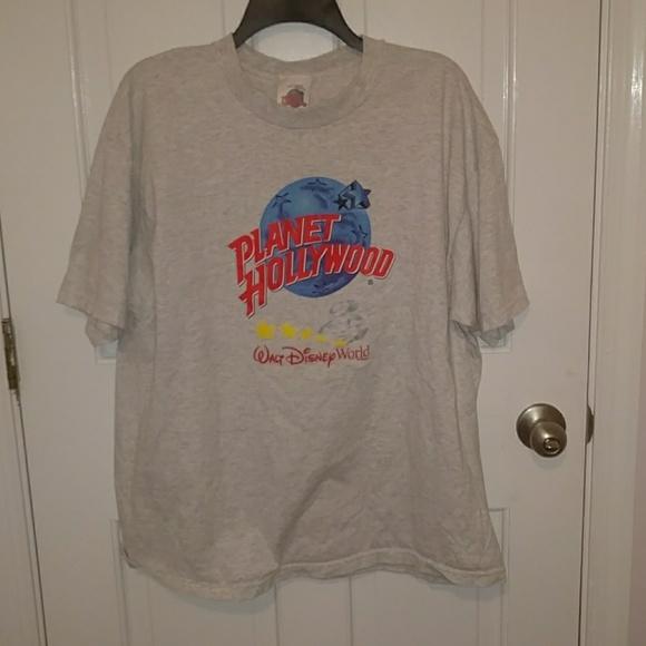 Vintage planet hollywood disney t shirt xl xl from suvi for Planet hollywood t shirt