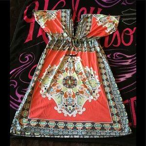Boho Gypsy Sisters Dresses & Skirts - M/L SO FUN & SILKY DRESS~GREAT STATEMENT DRESS~NWT