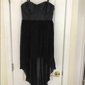 Tops - Black sheer corset top dress NWT