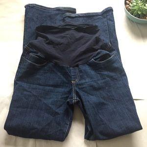 Motherhood Maternity Pants - Motherhood Maternity Classic Flare Dark Wash Jeans