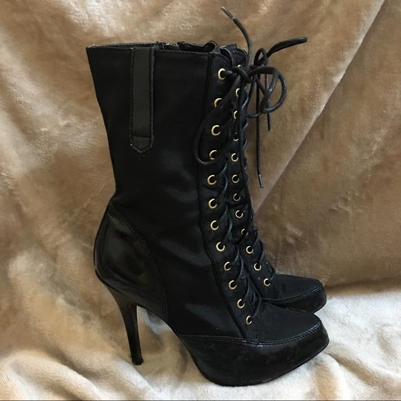 079663f0c8aaa ... black   gold lace up boots. M 592339ba2fd0b76f000d75e4
