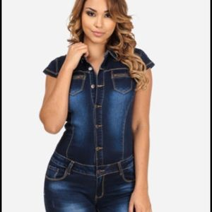 Denim - Denim romper