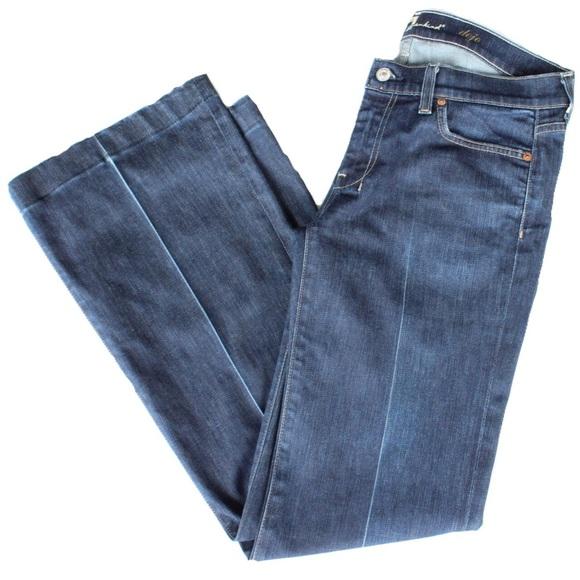 82 off 7 for all mankind denim sale 7 for all mankind wide leg dojo jeans from haylie 39 s. Black Bedroom Furniture Sets. Home Design Ideas