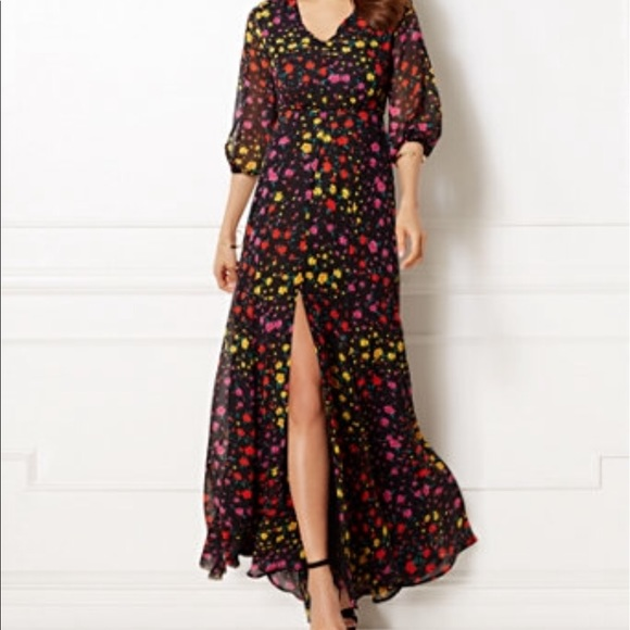New York Company Dresses Eva Mendes Floral Maxi Dress Nwt Poshmark